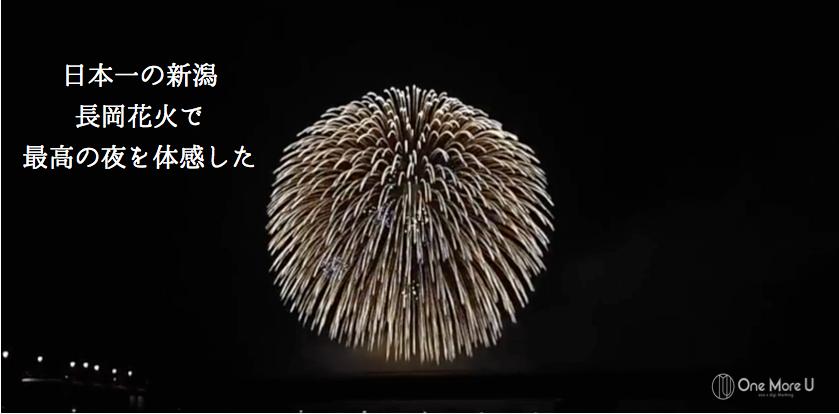 日本一の新潟 長岡花火で 最高の夜を体感した
